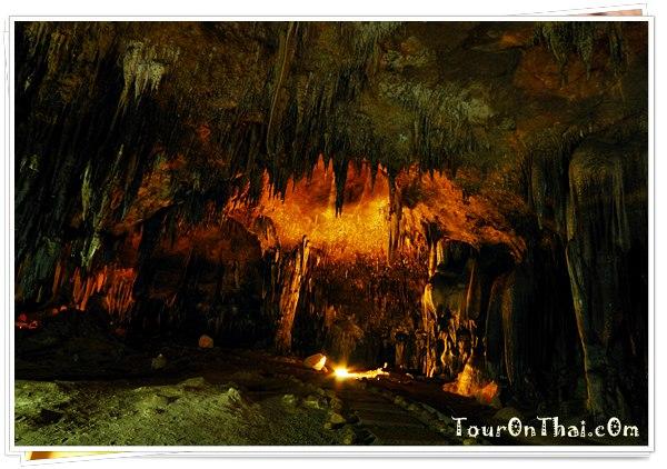 ทางเดินระหว่างห้องต่างๆ ของถ้ำเขาบิน