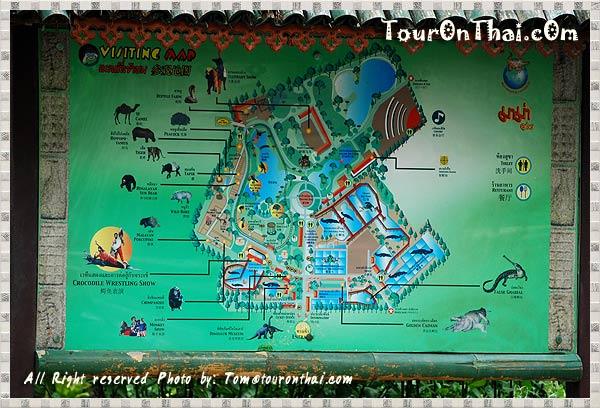 แผนผังฟาร์มจระเข้และสวนสัตว์สมุทรปราการ