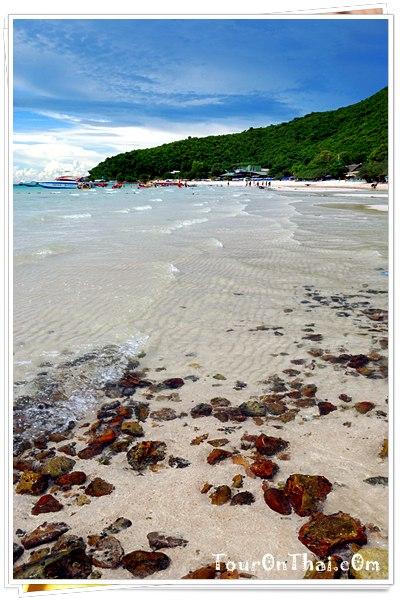 หาดทรายหาดเทียนเกาะล้าน