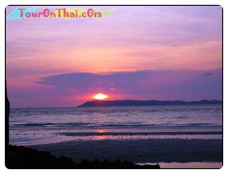 พระอาทิตย์ตกที่เกาะล้าน