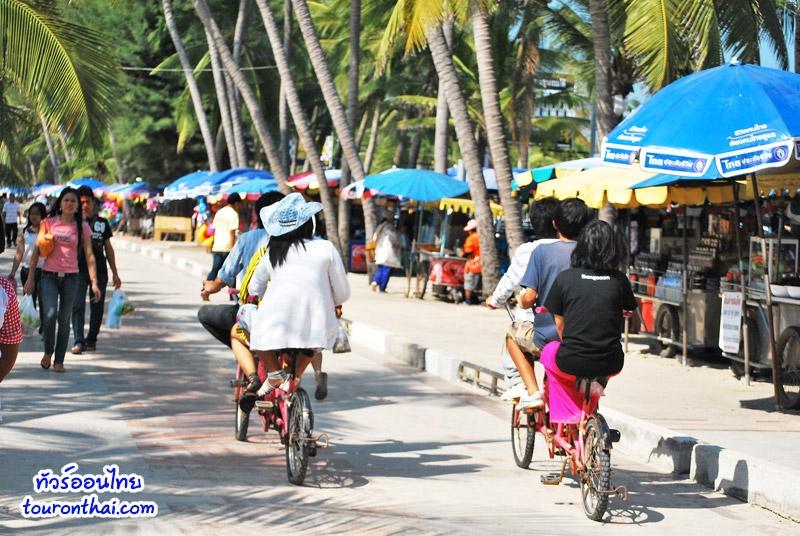 ปั่นจักรยานชมหาดบางแสน