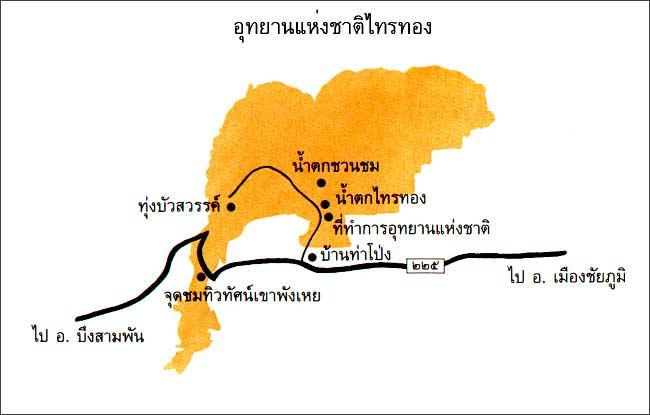 แผนที่อุทยานแห่งชาติไทรทอง