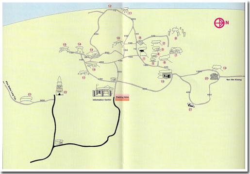 แผนที่อุทยานประวัติศาสตร์ภูพระบาท