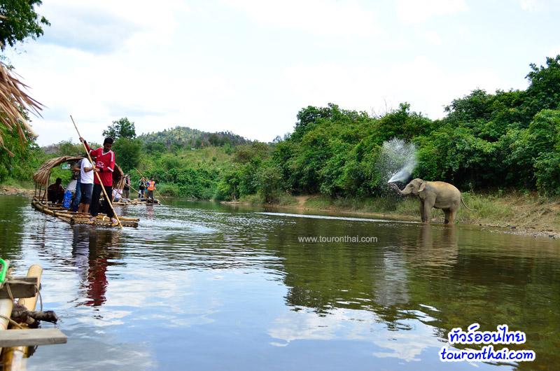ล่องแพ แนวชายแดน แม่น้ำกระบุรี