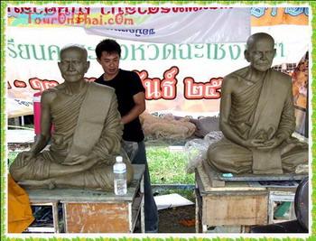 รูปปั้นหลวงปู่ปานและเกจิอาจารย์